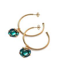 Baccarat | Metallic B Flower 18k Over Silver Vermeil Crystal Earrings | Lyst
