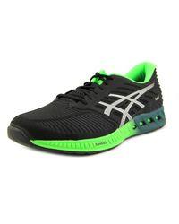 Asics | Black Fuzex Men Round Toe Synthetic Running Shoe for Men | Lyst