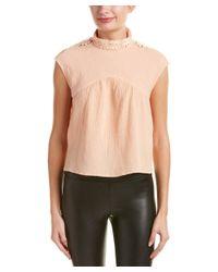 MINKPINK - Orange Somedays Lovin Sugar Lace-trim Linen-blend Top - Lyst