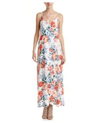 MINKPINK - White Floral Wrap Maxi Dress - Lyst