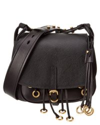 Prada | Black Corsaire Calf Leather Satchel | Lyst