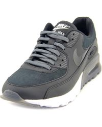 Nike | Air Max 90 Ultra Essential Women Round Toe Synthetic Black Sneakers | Lyst
