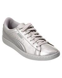 PUMA | Women's Vikky Metallic Soft Foam Sneaker | Lyst