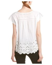 Parker - White Wise Eyelet Top - Lyst