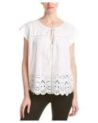 Parker | White Wise Eyelet Top | Lyst