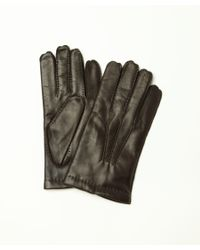 Portolano | Brown Men's Leather Gloves With Cashmere Lining for Men | Lyst