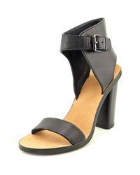 VINCE | Nicole Women Open Toe Leather Black Sandals | Lyst