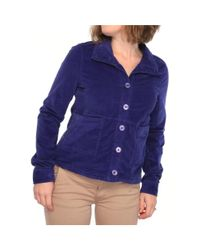 Splendid - Blue Relaxed Front Pocket Button Jacket Basic Jacket Har - Lyst
