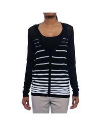 Calvin Klein   Black Long Sleeve Open Neck Cardigan Women Regular Sweater   Lyst