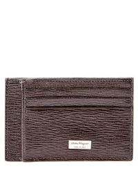 Ferragamo | Brown Revival Two Sided Leather Card Case for Men | Lyst
