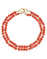 Kenneth Jay Lane | Orange Gold-electroplated Resin Necklace | Lyst