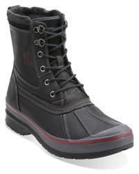 Clarks | Black Men's Milwright Hi Leather Tall Boot for Men | Lyst