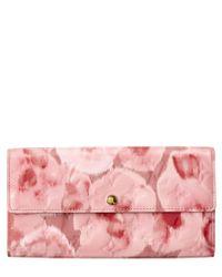 Louis Vuitton | Limited Edition Pink Ikat Flower Monogram Vernis Leather Sarah Wallet | Lyst