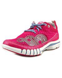 Ahnu | Yoga Flex Women W Round Toe Canvas Pink Running Shoe | Lyst
