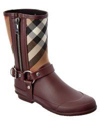 Burberry | Brown Zane House Check Rain Boot | Lyst
