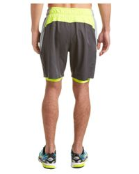 PUMA - Gray Reps Woven 2-in-1 Short for Men - Lyst