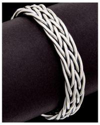 Scott Kay | Metallic Equestrian Silver Men's Weave Cuff for Men | Lyst