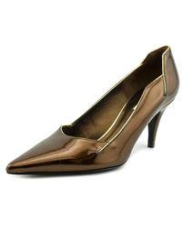 Calvin Klein | Metallic Josie Pointed Toe Patent Leather Heels | Lyst