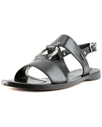 Frye | Black Rachel Harness Sandal Open-toe Leather Slingback Sandal | Lyst