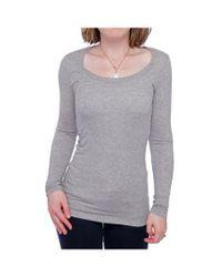 Splendid | Gray L/s Striped Layers Long Sleeve Scoop Neck Sweater Women Sweater | Lyst