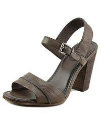 Frye | Portia Seam Women Open Toe Leather Gray Sandals | Lyst