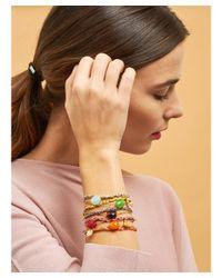 Les Nereides - Lucky Bracelet Bee And Green Stone - Lyst