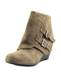 American Rag | Gray Cora Round Toe Synthetic Ankle Boot | Lyst