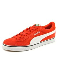 PUMA | Red S Vulc Men Round Toe Synthetic Sneakers for Men | Lyst