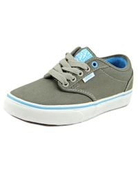 Vans | Gray Atwood Men Round Toe Canvas Sneakers for Men | Lyst