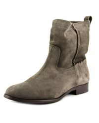 Frye | Gray Cara Short Women Round Toe Suede Mid Calf Boot | Lyst