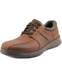 Clarks | Cotrell Walk Men Round Toe Leather Brown Oxford for Men | Lyst