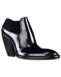 CoSTUME NATIONAL | Black 1115930 Pointed-toe Ankle Boots | Lyst