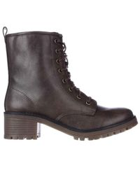 Madden Girl - Eloisee Lace-up Combat Boots - Brown - Lyst
