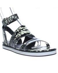 Pour La Victoire | Black Sabina Ankle Strap Flat Sandals | Lyst