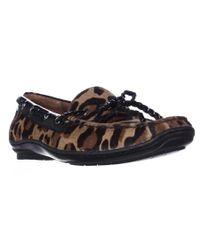 Donald J Pliner   Donald J Pliner Lacey Square Toe Loafers - Natural Black Leopard   Lyst