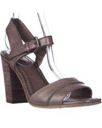 Frye | Gray Portia Seam Vintage Peep-toe Pumps - Grey | Lyst