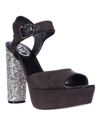 Sam Edelman | Gray Circus By Cosmo Peep Toe Platform Sandals - Dark Shadow | Lyst