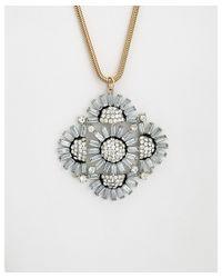 Noir Jewelry | Metallic Statement Adjustable Necklace | Lyst