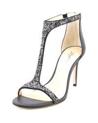 Imagine Vince Camuto | Phoebe Women Open-toe Leather Black Heels | Lyst