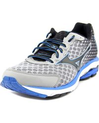 Mizuno | Metallic Wave Rider 18 Men Round Toe Synthetic Silver Running Shoe for Men | Lyst