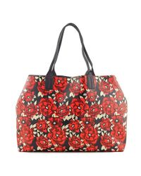 Tommy Hilfiger | Red Th Reversible Tote Women Leather Multi Color Tote | Lyst