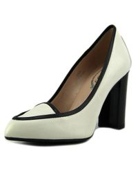 Tod's - Gomma T90 Wf Pantofola Bordata Women Pointed Toe Leather White Heels - Lyst