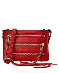 Rebecca Minkoff | Red 3 Zip Leather Crossbody | Lyst