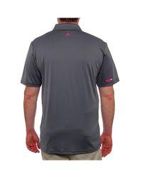 Adidas Originals - Gray Puremotion Climacool Geo Deboss Short Sleeve Polo Men Regular for Men - Lyst