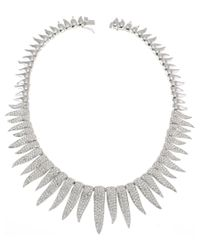 CZ by Kenneth Jay Lane - Metallic Plated Necklace - Lyst