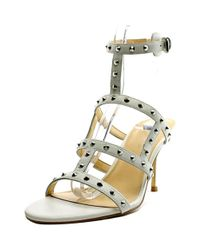 Ivanka Trump - White Gemina Open Toe Leather Sandals - Lyst