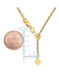 JewelryAffairs - 14k Yellow Gold Adjustable Rope Chain Necklace, 1.0mm, 22 - Lyst