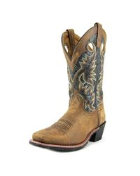 Laredo - Stillwater Cowboy Men Square Toe Leather Brown Western Boot for Men - Lyst