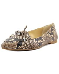 MICHAEL Michael Kors | Natural Nancy Flat Women Pointed Toe Leather Tan Flats | Lyst