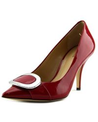 MICHAEL Michael Kors | Pauline Pump Women Pointed Toe Patent Leather Red Heels | Lyst